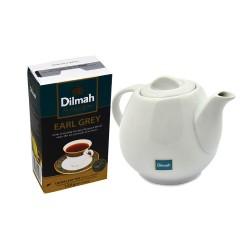 Zestaw Herbata Dilmah Earl Grey Tea 125g + czajniczek porcelanowy