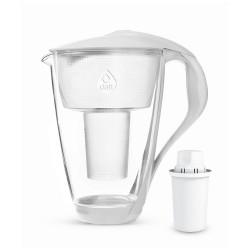 Dzbanek filtrujący szklany Crystal 2,0 L LED biały