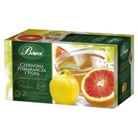 Herbata Bifix Premium Czerwona pomarańcza z pigwą - ekspresowa w kopertkach