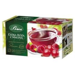 Herbata Bifix Premium Dzika róża z maliną - ekspresowa w kopertkach