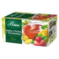 Herbata Bifix Premium Imbir z pigwą i truskawką  - ekspresowa w kopertkach