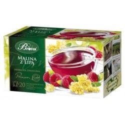 Herbata Bifix Premium Malina z lipą - ekspresowa w kopertkach
