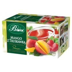 Herbata Bifix Premium Mango z truskawką - ekspresowa w kopertkach