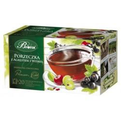 Herbata Bifix Premium Porzeczka z agrestem i wiśnią - ekspresowa w kopertkach