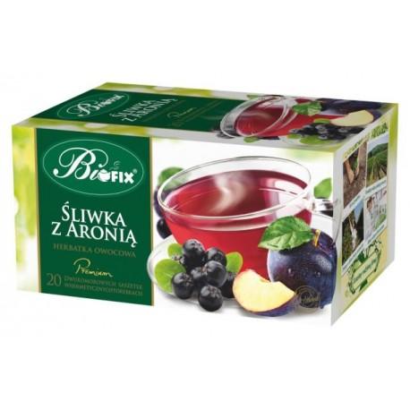 Herbata Bifix Premium Śliwka z aronią - ekspresowa w kopertkach