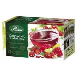 Herbata Bifix Premium Żurawina z maliną   - ekspresowa w kopertkach