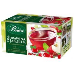 Herbata Bifix Premium Żurawina z jabłkiem   - ekspresowa w kopertkach