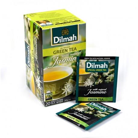Herbata Dilmah Green Tea Jasmine - zielona herbata z kwiatem Jaśminu 20 kopert