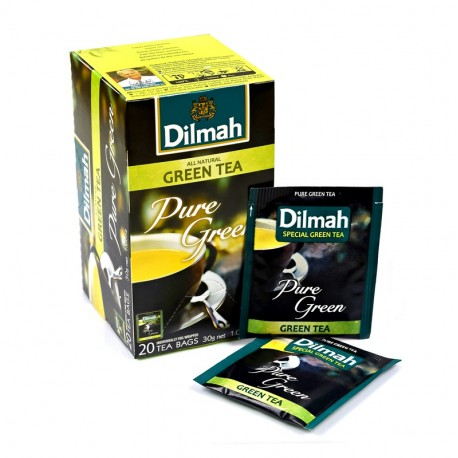 Herbata Dilmah Pure Green Tea - Czysta Zielona Herbata 20 kopert