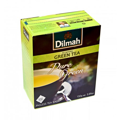 Dilmah Pure Green Tea - Czysta Zielona Herbata 100 torebek