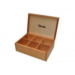 Dilmah prezenter drewniany - kolor olcha