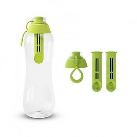 Zestaw Butelka filtrująca+ Filtry z zakrętką kolor limonkowy