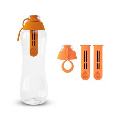 Zestaw Butelka filtrująca+ Filtry z zakrętką kolor mandarynkowy