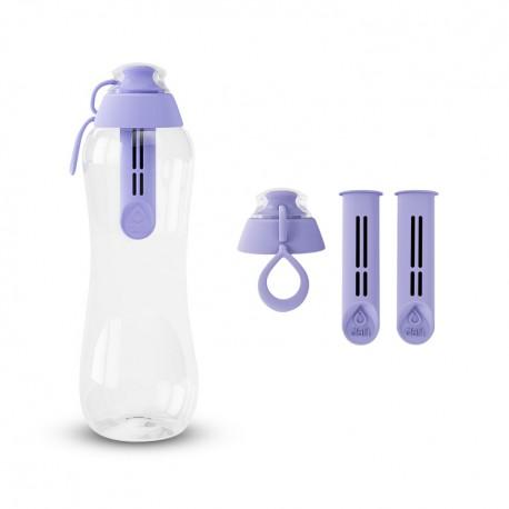 Zestaw Butelka filtrująca+ Filtry z zakrętką kolor wrzosowy