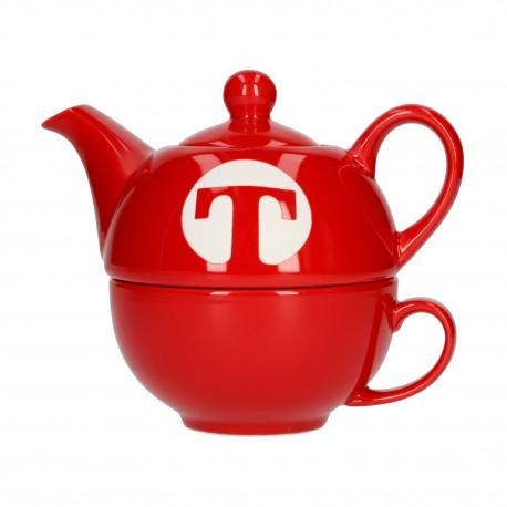 Zestaw do parzenia herbaty Tea For One Capital T czerwony