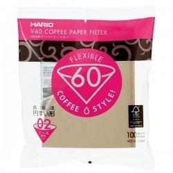 Filtry papierowe do Drippera V60-02 Hario Misarashi brązowe