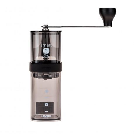 Młynek Hario Coffee Mill przezroczysty czarny