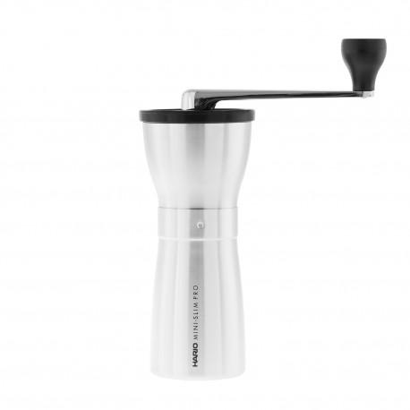 Młynek Hario Ceramic Coffee Mill Mini-Slim PRO Silver