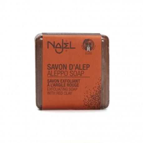 Mydło Aleppo 12% oleju laurowego Najel z dodatkiem czerwonej glinki.
