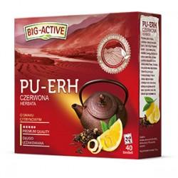 Herbata czerwona ekspresowa PU-ERH BIG-ACTIVE z aromatem cytryny 40 torebek