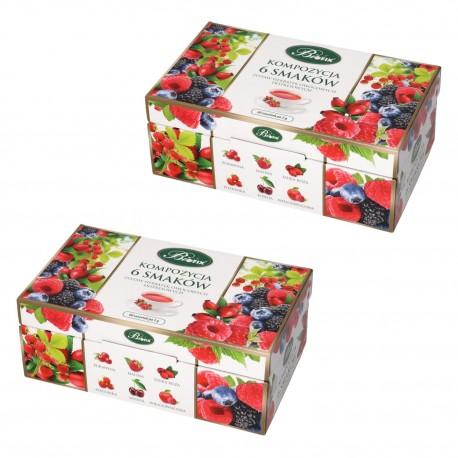 Kompozycja 6 smaków Herbat owocowych - dwupak