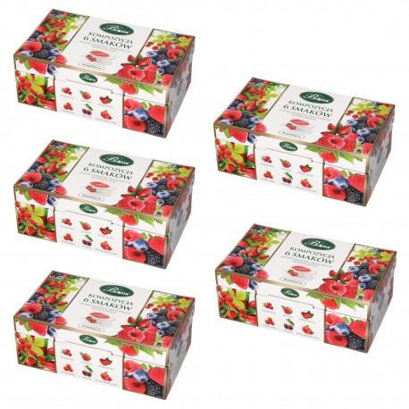 Kompozycja 6 smaków Herbat owocowych - pięciopak