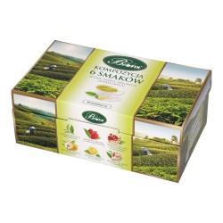 Kompozycja 6 smaków Herbat zielonych Bifix