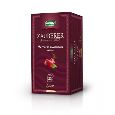 Herbata Belin ZAUBERER owocowa o smaku wiśni 20 kopert