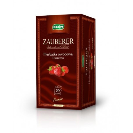 Herbata Belin ZAUBERER owocowa o smaku truskawki 20 kopert