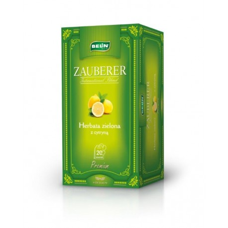 Herbata zielona Belin ZAUBERER o smaku cytryny 20 kopert