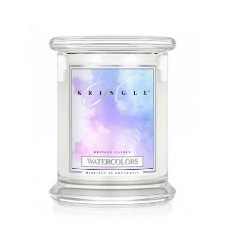 Aromatyczna świeca Kringle Candle Water Colors w zamykanym szklanym słoiku