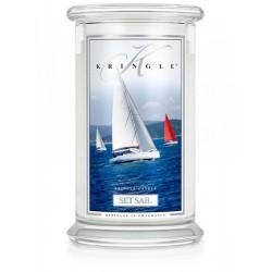 Aromatyczna świeca Kringle Set Sail w zamykanym szklanym słoiku