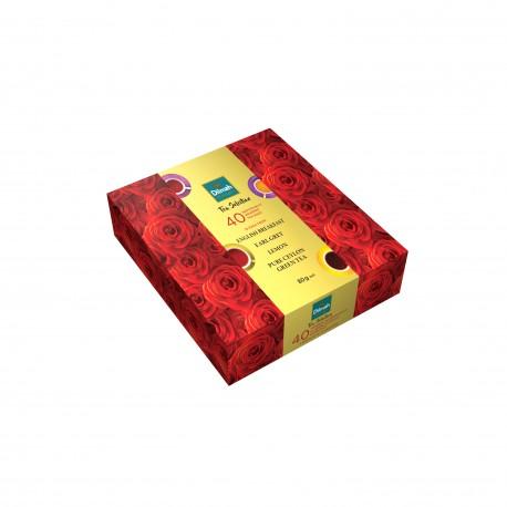 Bombonierka herbaciana Dilmah Tea Selection Roses 40x2 g