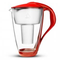 Dzbanek filtrujący szklany Crystal 2,0 L LED makowy