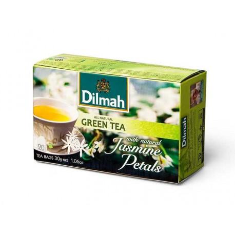 Dilmah Green Tea z kwiatami jaśminu [30x1.5g]
