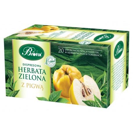 Herbata zielona z pigwą ekspresowa w kopertkach