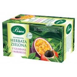 Herbata zielona z guaraną i marakują ekspresowa w kopertkach