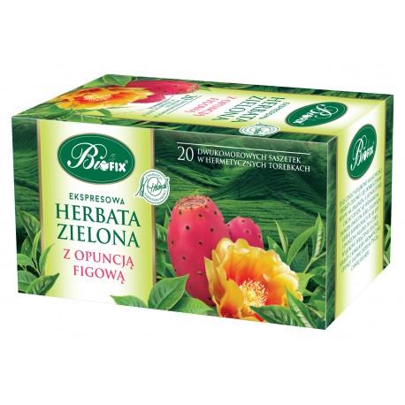 Herbata zielona z opuncją figową ekspresowa w kopertkach