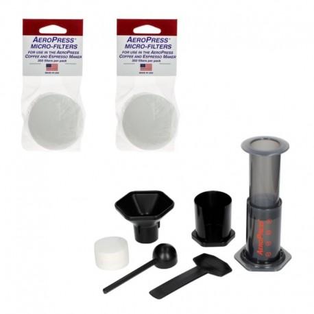 Zestaw AeroPress zaparzacz do kawy 250 ml + 2 filtry