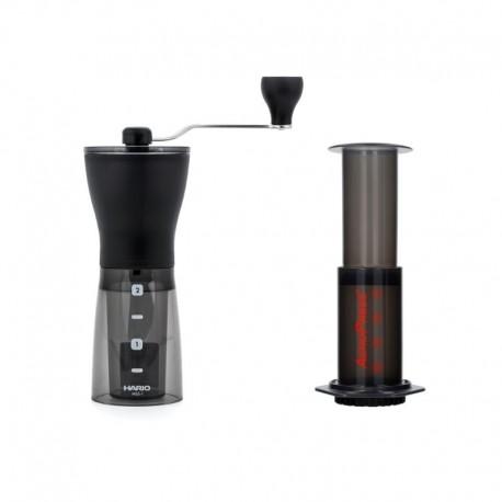 Zestaw do kawy Młynek Mini Mill Slim + zaparzacz AeroPress 250 ml
