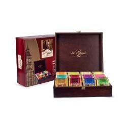 Prezenter drewniany z herbatami Sir William's 12 slotów