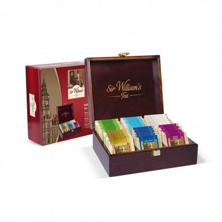 Prezenter drewniany z herbatami Sir William's 6 slotów