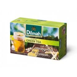 Herbata Dilmah Green Tea with natural Lemongrass & Lemon 20 torebek