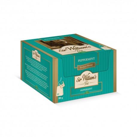 Herbata Sir William's Tea ZIELONA PEPPERMINT 50 kopert