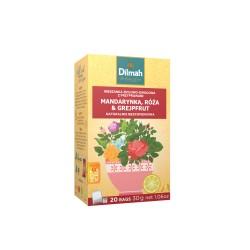 Napar ziołowy Dilmah Mandarynka, róża & grejpfrut