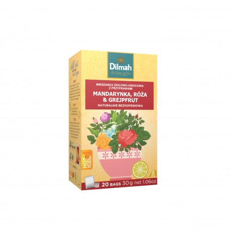 Napar ziołowy Dilmah Tangerine Rose & Grapefruit [20x2g]