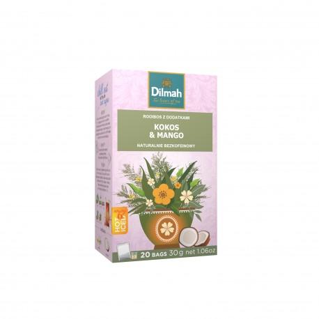 Napar ziołowy Dilmah Green Rooibos - Coconut & Mango [20x2g]