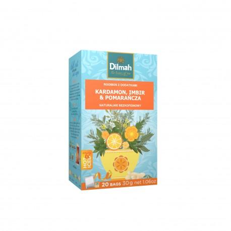 Napar ziołowy Dilmah Green Rooibos, Cardamom, Ginger & Orange [20x2g]