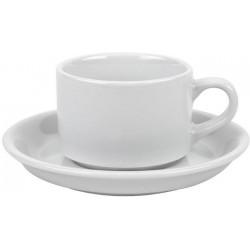 Porcelanowa filiżanka + spodek z logo Dilmah