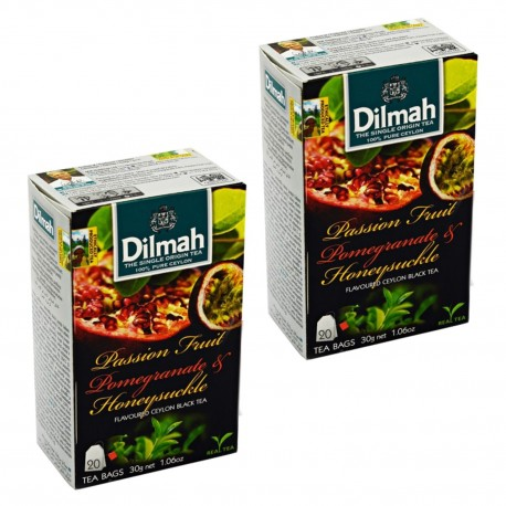 Dwupak Herbata Dilmah Passion, Fruit & Pomegrante 20 torebek